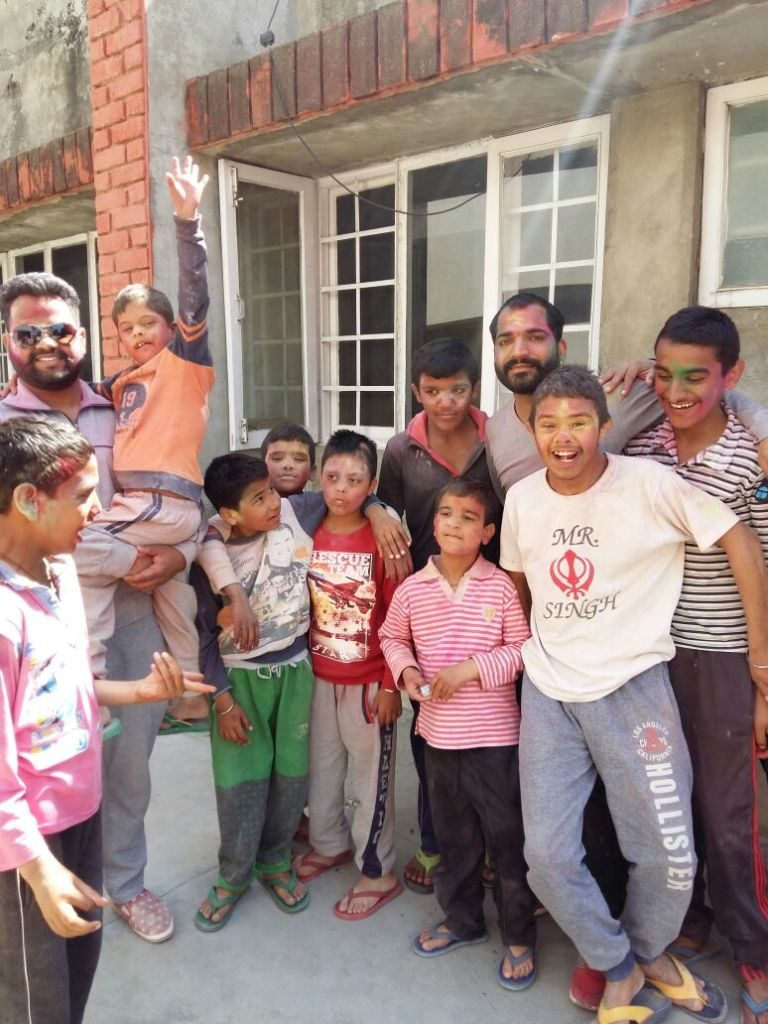 Special Children celebrating Holi